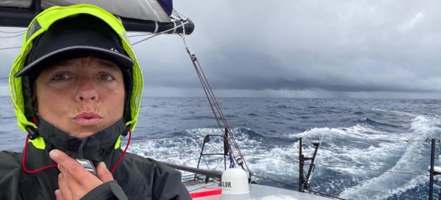 Vendée Globe : Alexia Barrier s'approche du Cap Horn